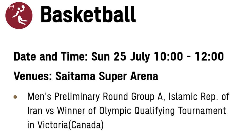 東京2020 バスケットボール