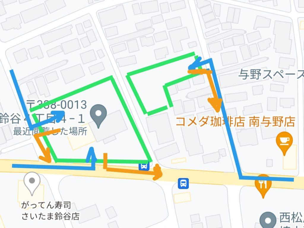 「ニトリ 埼大通り南与野店」駐車場マップ